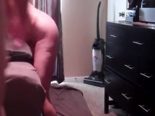 Smashing my wifey from behind in our guest room