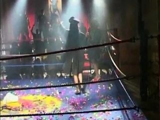 Michelle super-naughty gang-bang in ring