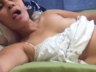 Mature filipina mother pawing her melons and gash on skype for me
