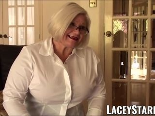 LACEYSTARR obedient GILF butt stuffed by Pascal milky