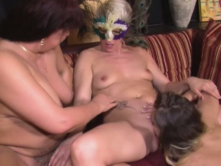 It?s her first time at the swingers club so the girls give