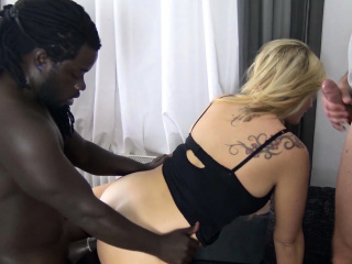PRIVAT 3 way big black cock pound FOR GERMAN cougar TATJANA youthful