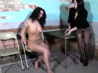 Girl/girl female dominance have fun and strap on dildo