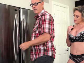 Dee Williams poked rigid in the kitchen