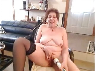 Molten boobed grandmother jerking on web cam