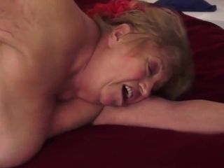Bigtits grandma pounded after a massage