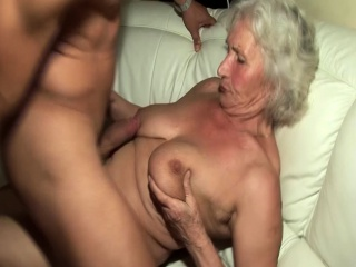 Grandma in her very first pornography movie