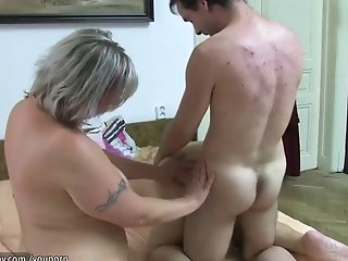 Threesome with old mature younger mature and their boyfriend