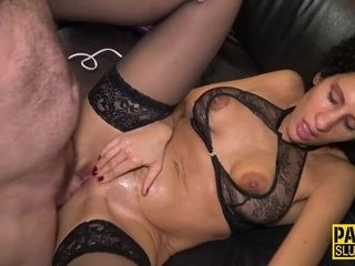 Bondage & discipline cougar strapped and humped