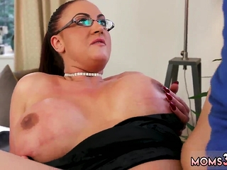 Jaw-dropping mommy crony' compeer and family six hard-core XXL jug stepmothermy Ge