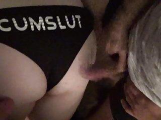 Bbw cuckold bbc bull and hubby rub cocks on her ass in panti