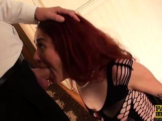 Crimsonhead subslut Monica Bollocksy made crimson with xxx ass fucking