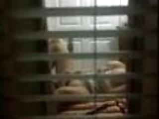 peeking my mom from the balcony
