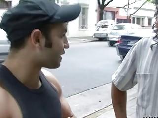 Stranger Fuck His Girlfriend and Make him Cuckold for Cash
