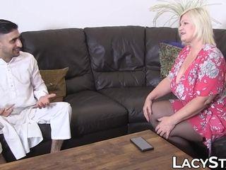 Brit grandma Lacey Starr railing foreign spunk-pump for pop-shot