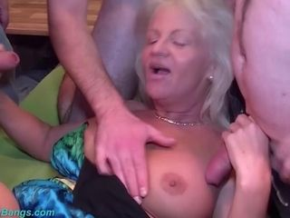 Buxomy grannies very first group sex soiree