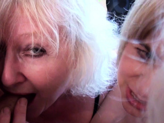 Older bigger blondes with younger cock
