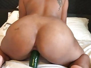 Ex-girlfriend takes fat cucumber