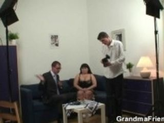 """""""Huge jugged mother is seduced into threesome"""""""