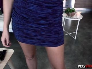 Beautiful stepmom wanted a bad stepson with big cock