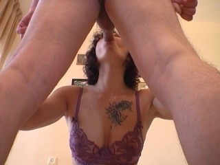 Horny tattooed MILF sucks and anal rides a cock. Enjoy homemade anal riding
