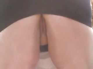 Upskirt of my aunt without panties