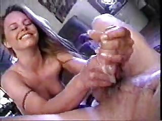 wife likes to play with his sticky cum