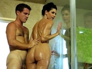 X-rated call-girl Gets Fucked verification get under one's Shower