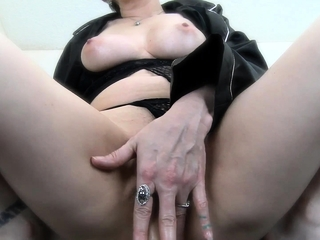 Huge-boobed mature stepmother jacking youthful pink cigar point of view