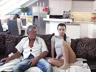 DADDY4K. Aged and youthful paramours have undirected romp behind...