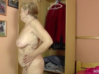75yr older GERMAN grandmother USCHI lure youthful studs TO screw HER